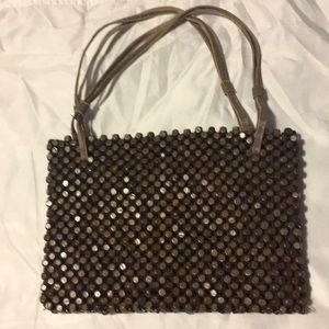The SAK Wooden-beaded small shoulder bag